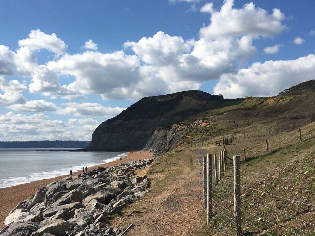 S W Coast Path Golden Cap Beach Sea And Sky Cliffs Seatown Dorset Coast
