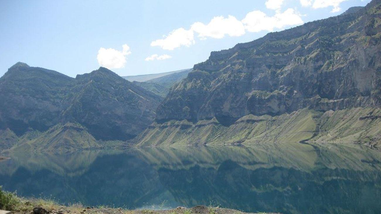 Ирганайское водохранилище . Nature Dagestan Mountain Fishing Lake Clouds And Sky