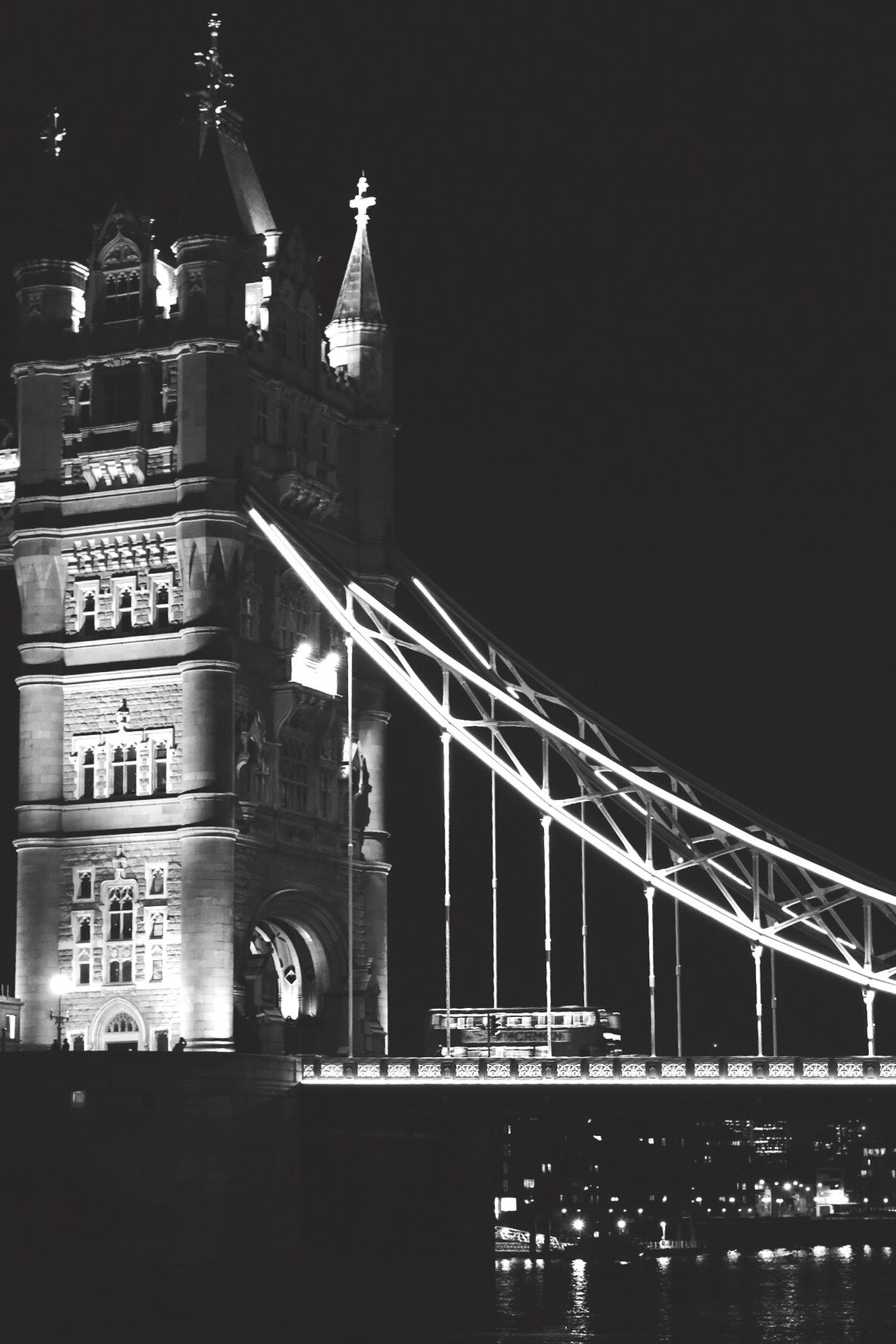 Tower Bridge, London Architecture Bridge - Man Made Structure Connection Night Engineering Suspension Bridge Built Structure Transportation Illuminated Travel Destinations Outdoors Travel Low Angle View Building Exterior No People Clear Sky Sky City Chain Bridge