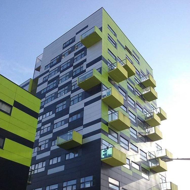 Immeuble boulevard Hoover Boishabite Lille Architecture Moderne Nord Nordpasdecalais  Terresdunord Hautsdefrance Colors Couleurs Tourisme Nordpasdecalaistourisme