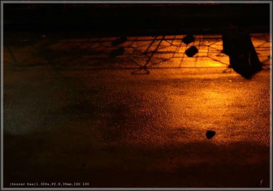 It rained yesterday. Relaxing Rainy Night Night Lights Pastel Power Orange Color Romantic Landscape