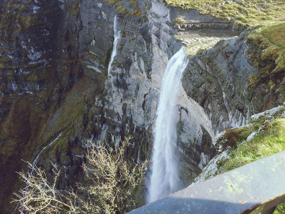 cascada Nature Waterfall Relaxing Water