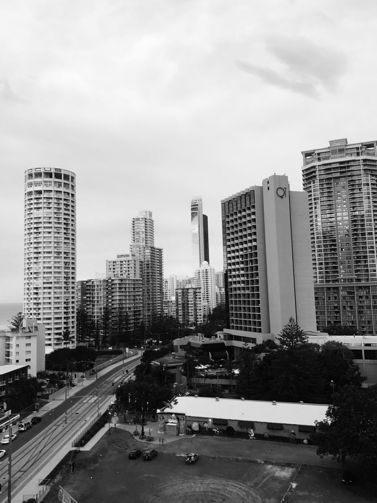 Gold Coast, Queensland, Australia . City Building Exterior Architecture Built Structure Street Transportation Skyscraper Car Road Land Vehicle Sky Outdoors City Life No People Modern Day Cityscape EyeEmNewHere EyeEmNewHere