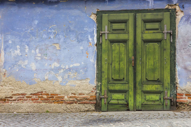 Old weathered wall and door Architecture Blue Building Exterior Closed Door Entrance House Old Old Door Old Wall Old Wall Style Residential Structure Wall Wall - Building Feature Weathered Wall
