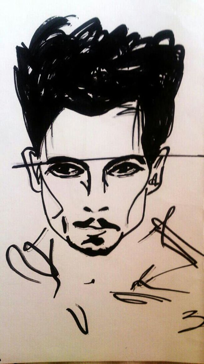 JhonnyDepp My Hero Fail Art Art ArtWork Artistic My Drawing Illustration