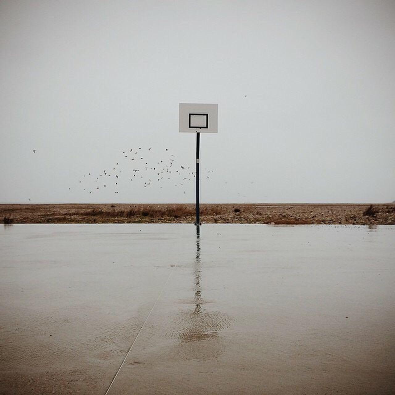 Lonely Loneliness Basket Basketball Play Playing Playground France Minimalism Minimal No People Minimalobsession Foggy Havre
