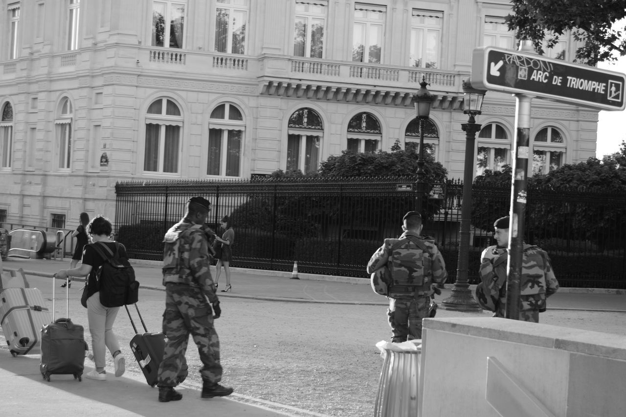 Showcase July Soldiers And Turists On The Way Arc De Triomphe, Paris The Fine Art Photography My Gallery Eye4photography  France Cityscape Moments Of My Life Army Life The Turist Perfect Match Black And White Photography