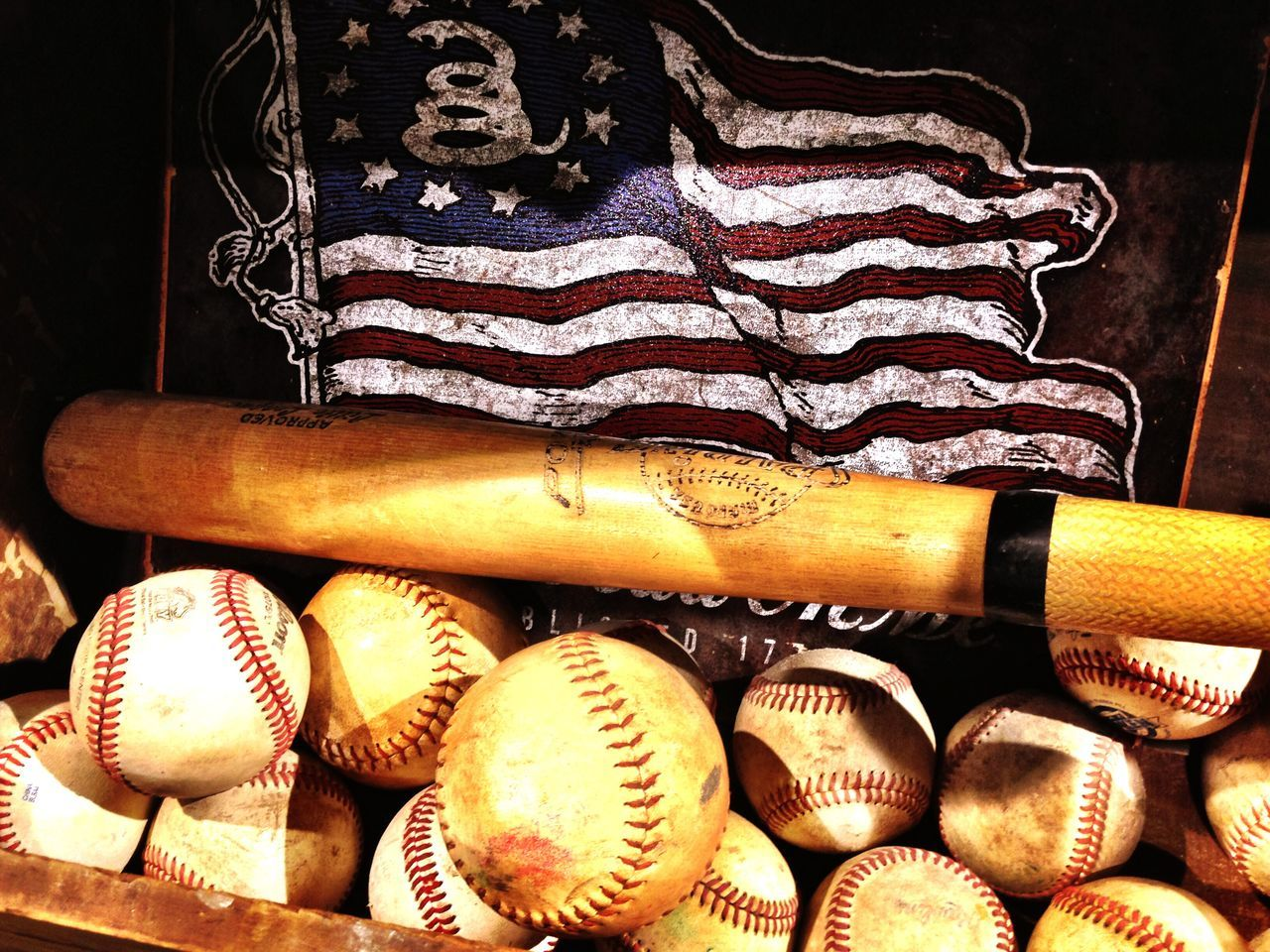 Portrait Of America Flag American Flag Baseball Baseball Bat America Hello World Americanflag Baseball ⚾ Mission