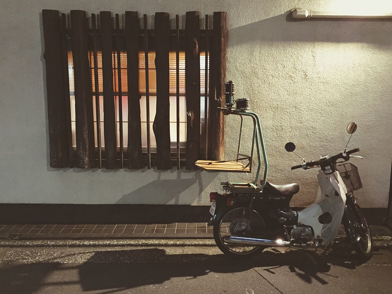 Embrace Urban Life Neighbourhood Charm Tokyo Night Street Light No People Motorcycles Vintage
