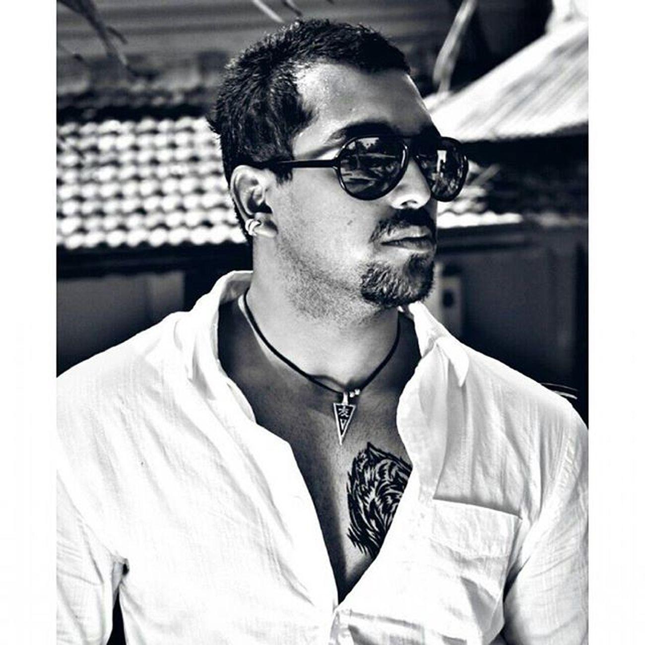 Oldpicture Modelingdays Potrait B &w Classy Model Goan Shades Earings Tattooed Instafashion Photooftheday Cool Stud Man Mensfashion ChannelV Indiafest Ahd Goa Myfashiondairies