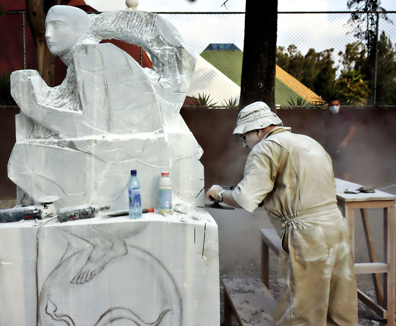 Artist Artist At Work Building Materials Circular Saw Circular Tool Construction Machinery Construction Site Cutter Day Dust Fine Art Photography From My Point Of View Grinder Handmade Marble Marble Sculpture Marble Statue One Worker Outdoors Power Tools Safety Saw Still Life Travel Urban