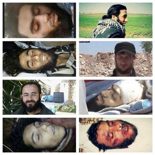 الشهداء الذين قضو اليوم لتحرير معسكر الخزانات في ادلب جبهة_النصرة الجبهة_الاسلامية جندالاقصى لواءالامة