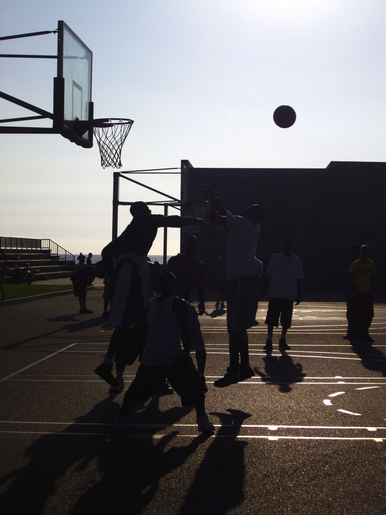 Beautiful stock photos of game, Basketball, Built Structure, Court, Day