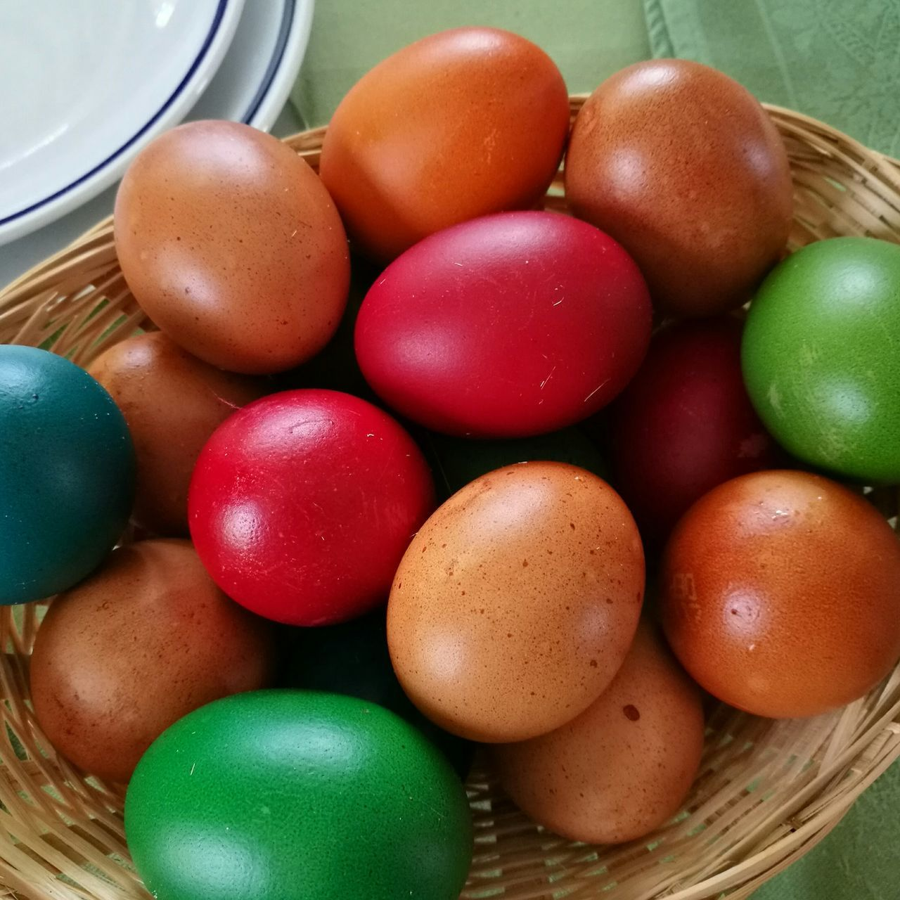 Pasqua Food Easter Basket Easter Egg Food And Drink Indoors  Green Color Multi Colored Variation No People Healthy Eating Close-up Freshness Day