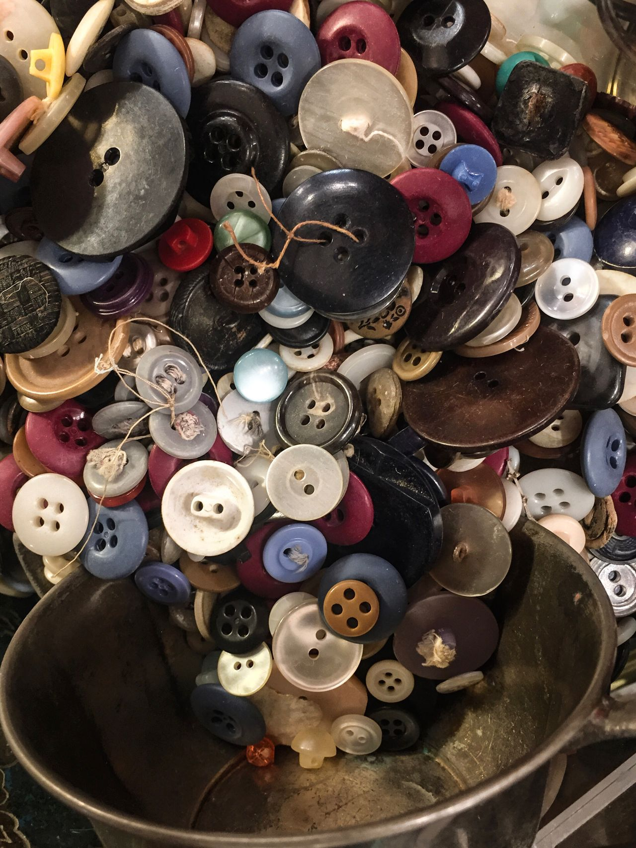 Large Group Of Objects Abundance Variation Sewing High Angle View No People Choice Sewing Item Indoors  Multi Colored Close-up Day Buttons Brasscup Plastic