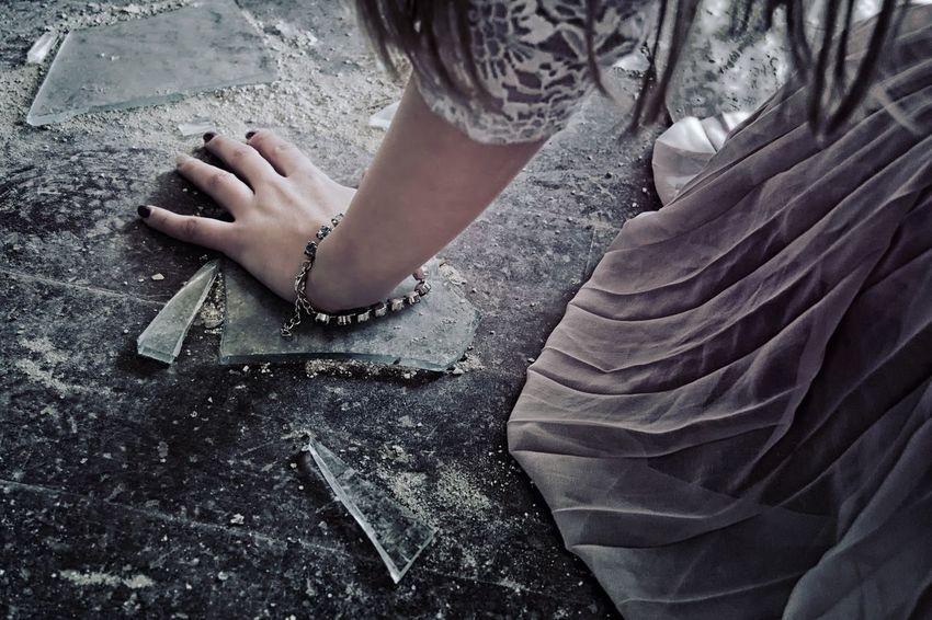 fear of what happened Fear Happened Dress Feel Hand Shards Broken Ground EyeEm Gallery EyeEm Eyemphotography Mystery Lost