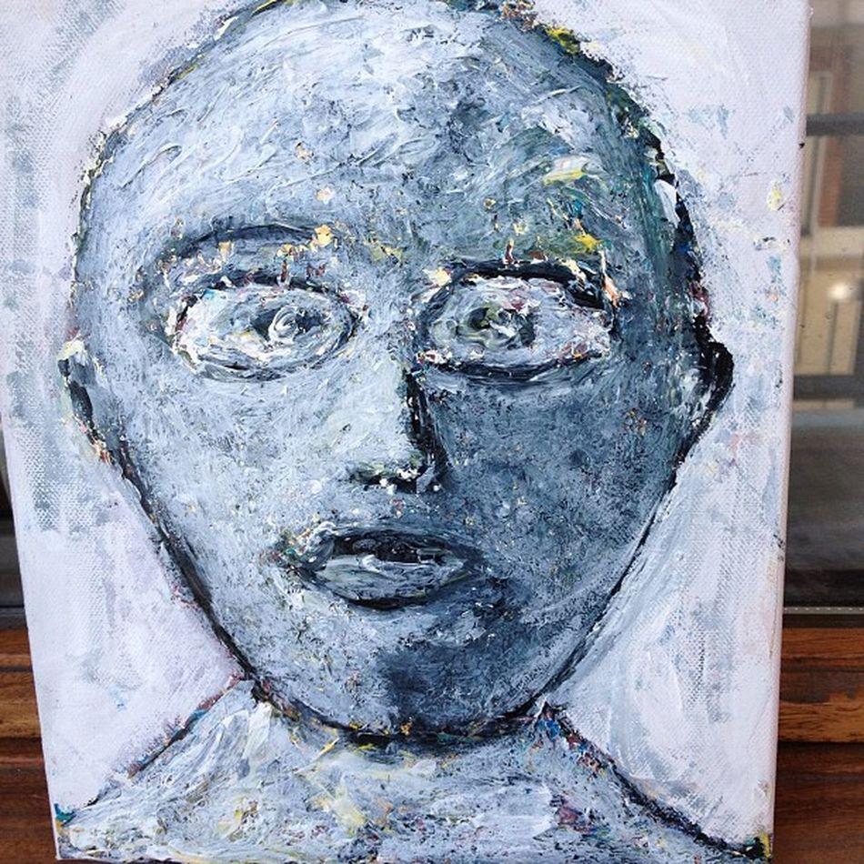 Figura 3, Leopoldo. Lienzo sobre Acrílico . Art Arte Negua pintura painting
