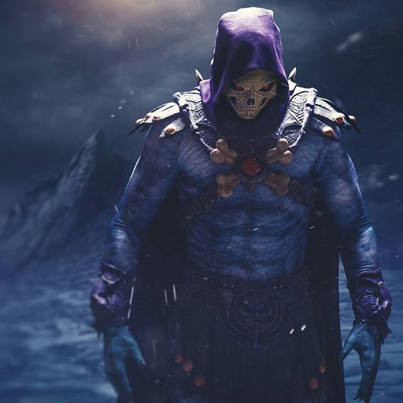 I had the pleasure of creating this image of Skeletor . Created by @bluewhalemakeup Heman Cosplay Costume