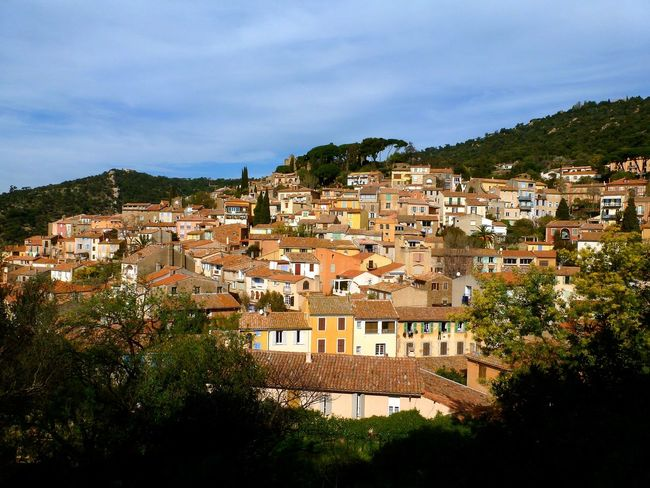 Bormes-les-Mimosas Village Hill Top Medieval Village Castle Ruin Evening Light France Provence