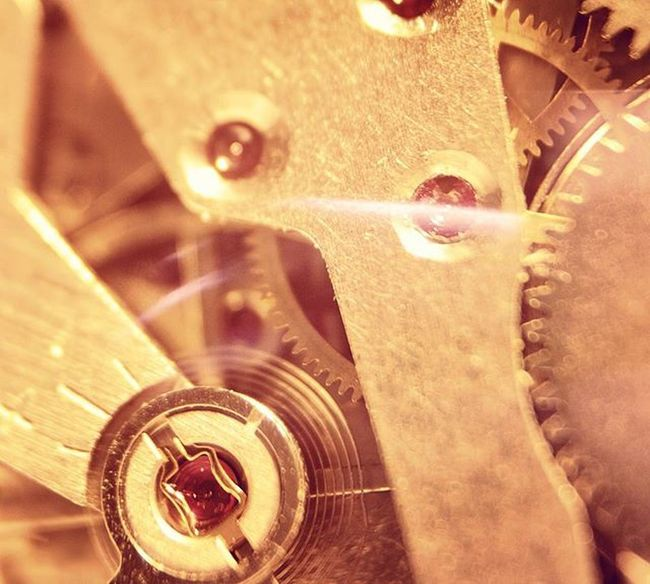 Watching the time goes by... Macro Mechanical Watch Mechanism Clock Canon EOS 1000D Closeup Time Pass By  Thoughts Craftmanship Precision Mans Jewelry Jewels