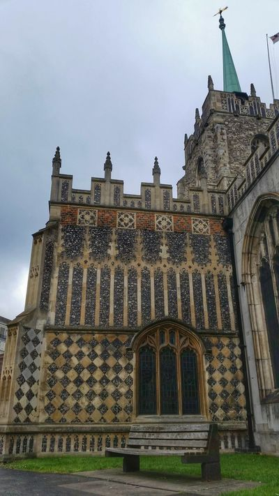 Leaded Windows Leaded Glass Flint Gothic Arches Stone Wall Chelmsford Cathedral Architectural Detail Stone Arches Medieval Architecture Church Battlements Clock Tower Buttress Flag Steeple Spire  Bench Patterns