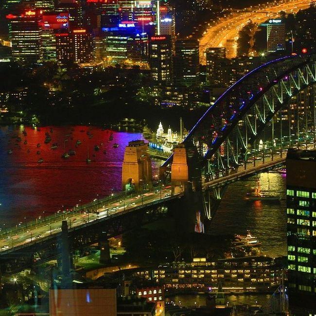 Sydney from Theeye Sydneytower Lunapark Night HDR Australia Newsouthwales Photooftheday City Scape Amazing_australia Visitnsw