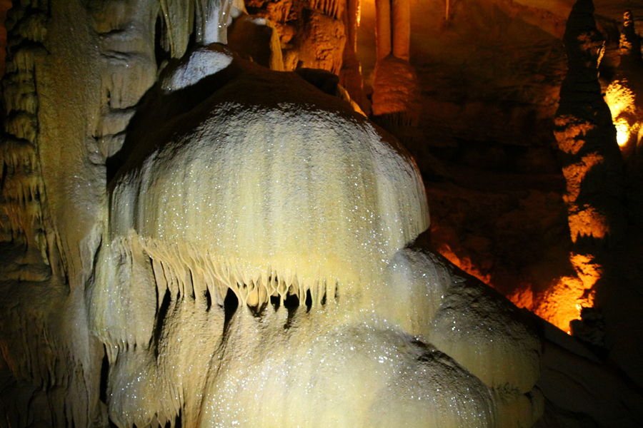 Cocalière cave Limestone Cave Underground River Cave Light Reflection Water Limestone Nature No People Stalagmite