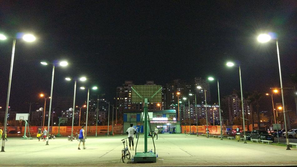 Night Sport Illuminated Outdoors MIphotography