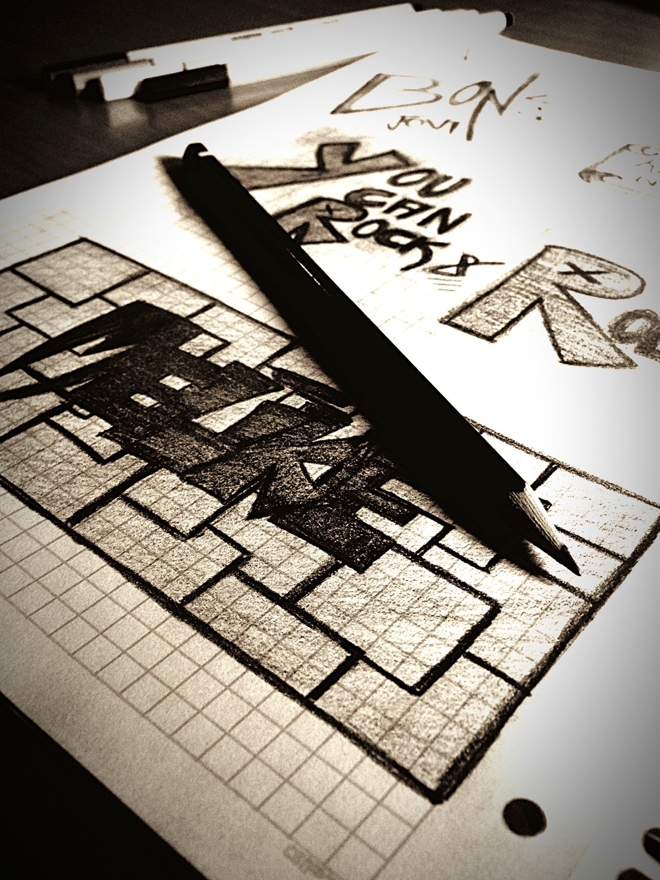 Boredatschool Drawing Black ILoveRockNRoll Bonjovi Art
