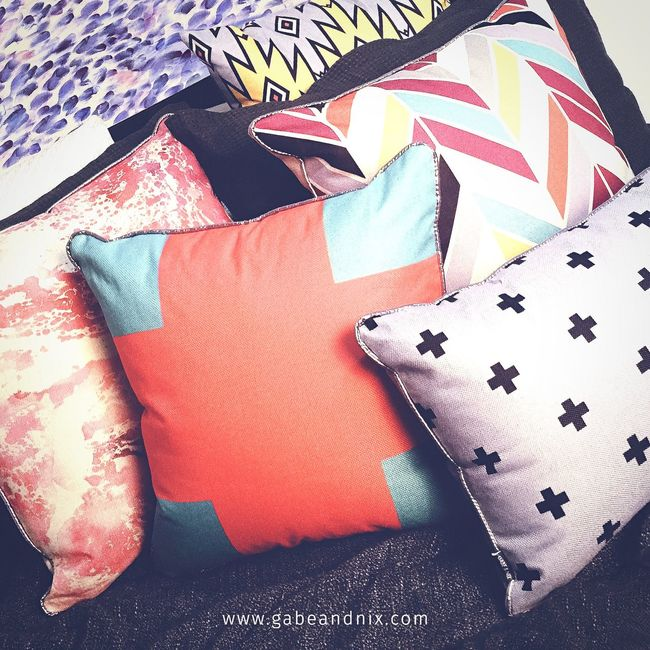 ighten your bedroom 🍉✔️🙌🏽 Gabeandnix Homedecor Cushion Pillow Interior Design Aztec Bedroom