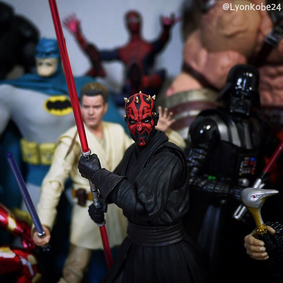 """""""At last we will have revenge."""" Toycommunity Toyphotography Toys Actionfigures Toyphotographer Actionfigure Star Wars Starwars Jedi Sith DarthMaul Darth Maul Stormtrooper SHfiguarts"""