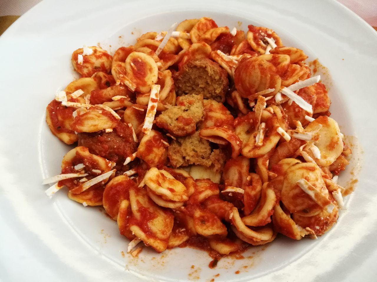 Food Plate Day Pasta Polpette Cacio