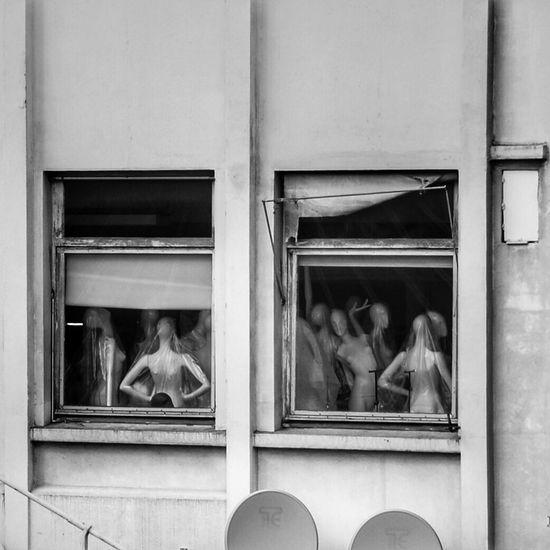 Backyard views in Paris Window Looking Into A Window Façade Dolls Blackandwhite Black And White Black & White Wall Fashion Streetphotography Gothic Puppet Puppets Fashion Photography Detail