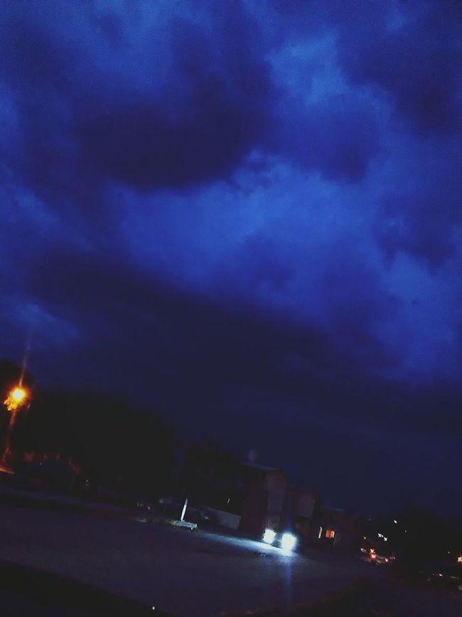Sky Night Nightphotography Rain Rainy Days Mexico Monclova Coahuila, México Photography Nature Blue Sky Blue