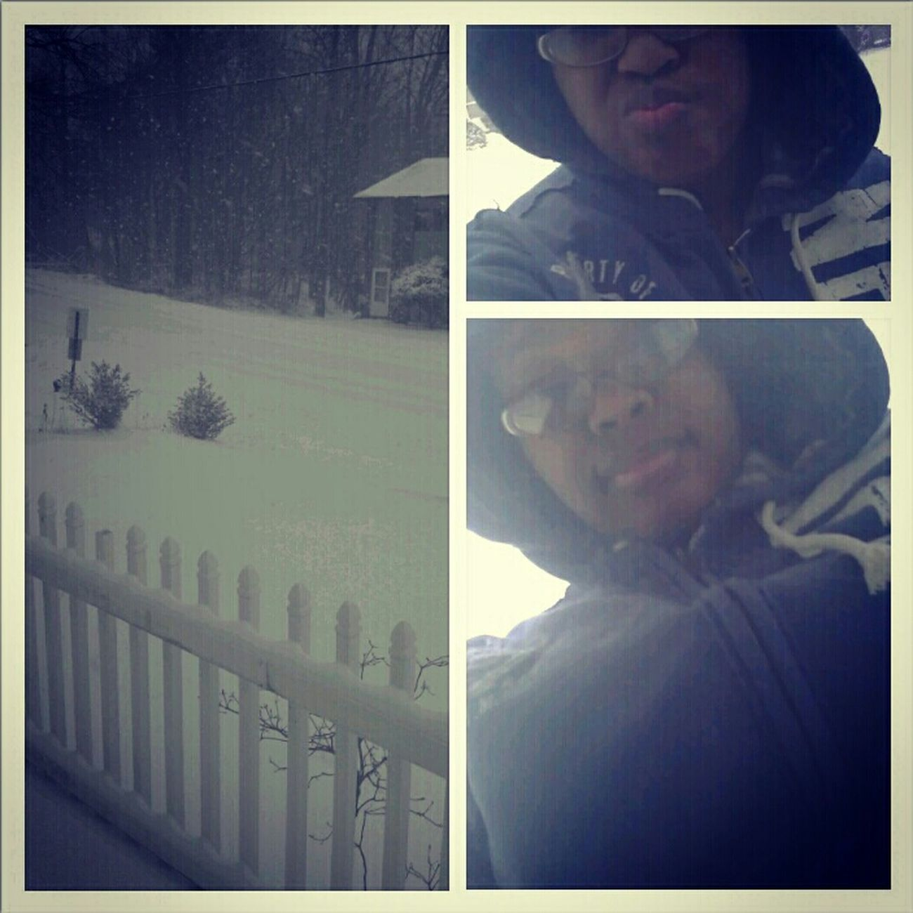 Real Niggas go out in this Weather lmaoo :p