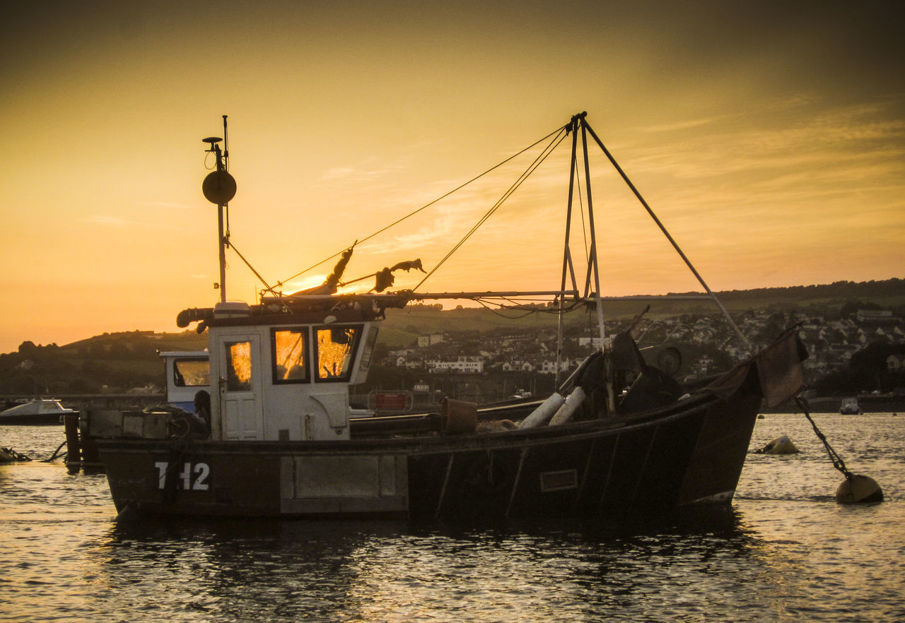 sunset, nautical vessel, transportation, water, sky, mode of transport, sea, outdoors, no people, waterfront, nature, scenics, beauty in nature, architecture, day