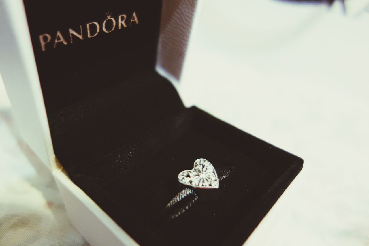 Love this charm my grandma got me for my 19th birthday Close-up Diamond - Gemstone Dedication Text Indoors  No People Life Events Heart Jewlery EyeEmNewHere Rx100 Day Pandora Pandoracharms