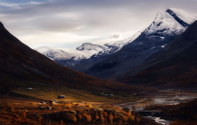 Norway Valley Norway Valley Landscape Mountains River Autumn Autumn Colors Sunset Sun Clouds Skylovers Sky Nature Beautifulinnature Naturalbeauty Photography Landscape [a:43154] Travel Canon North Clouds And Sky The Great Outdoors - 2016 EyeEm Awards Beautiful Nature Nature Found On The Roll Feel The Journey On The Way Fine Art Photography Eyeenphoto