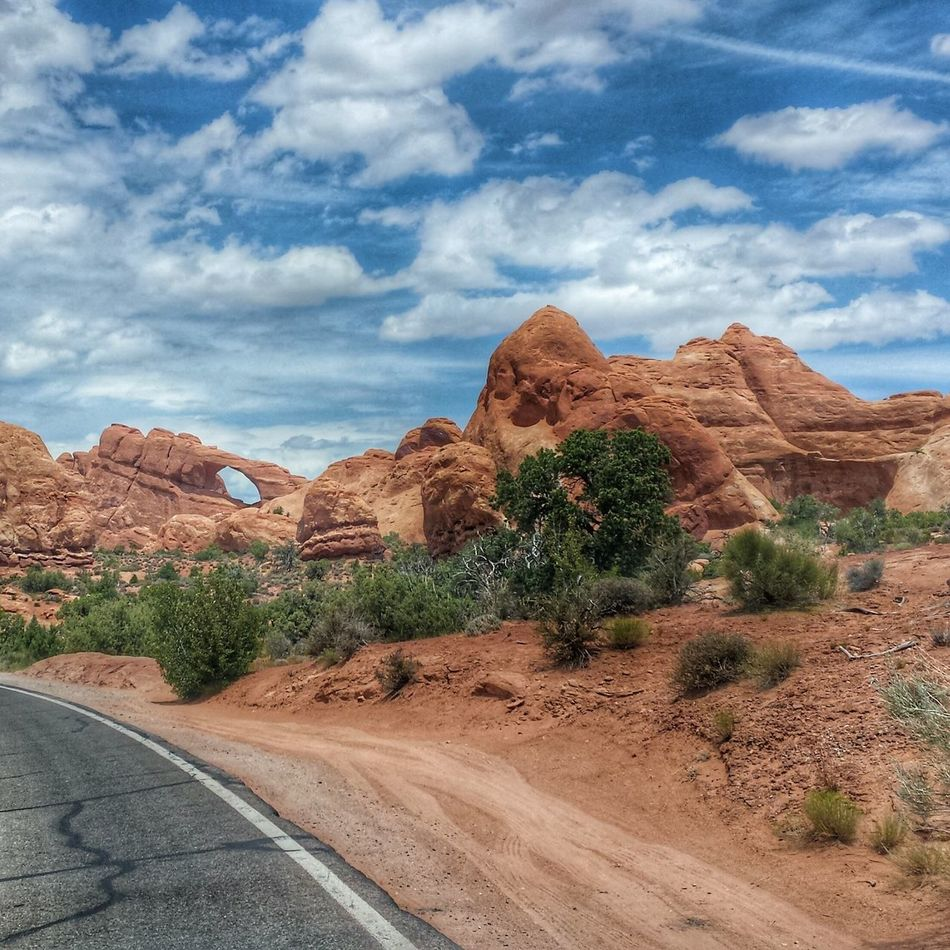The Journey Is The Destination Nature West Spire  Vacation Travel Cowboy Country Taking Photos Enjoying Life Red Dirt Landscape Sandstone Utah Canyon Moab  Outdoors National Park Canyonlands Heat Summer Arches Arches National Park, Utah Driving On The Road On The Way
