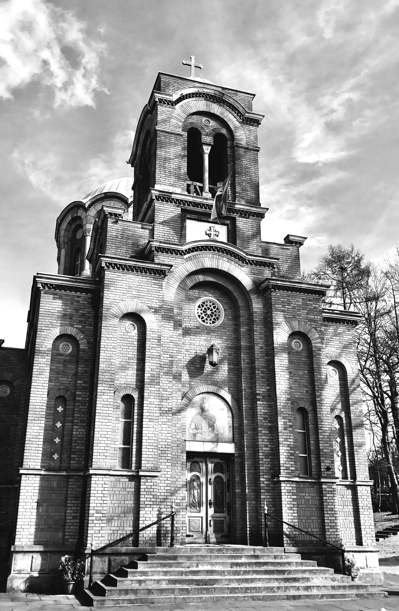 The Church of the Holy Prince Lazar Place Of Worship Birmingham UK Low Angle View