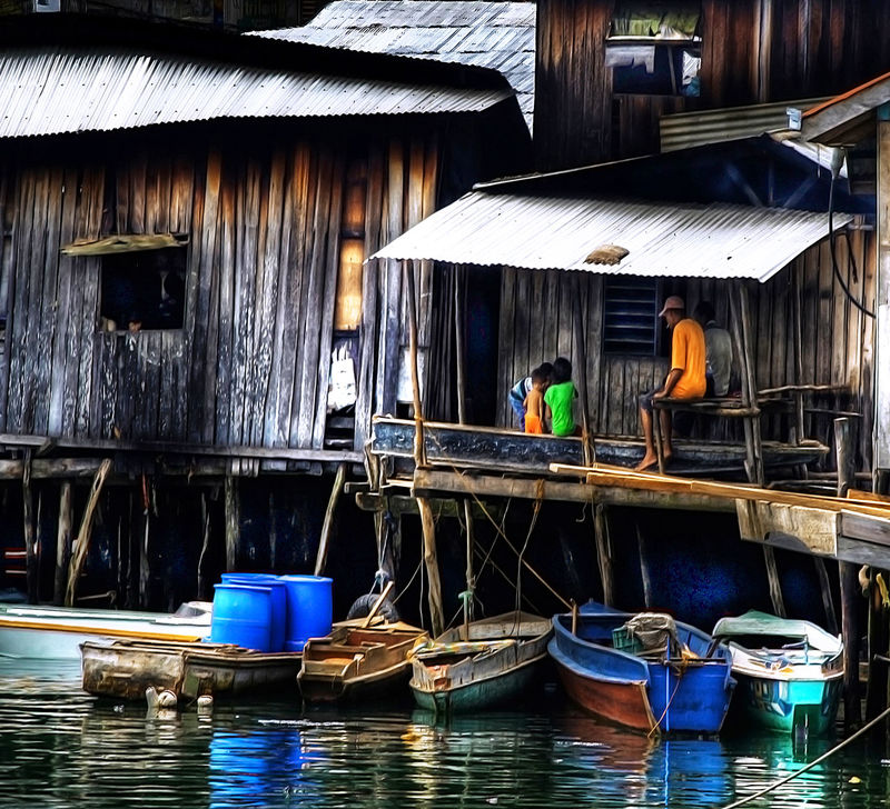Architecture Bad Condition Boats Boats Boats Building Exterior Built Structure Day House Houses In A Row Joel Yonzon Obsolete Outdoor Photography Reflection Roof Rural Scenes Tawitawi Water Wood Wood - Material Wooden