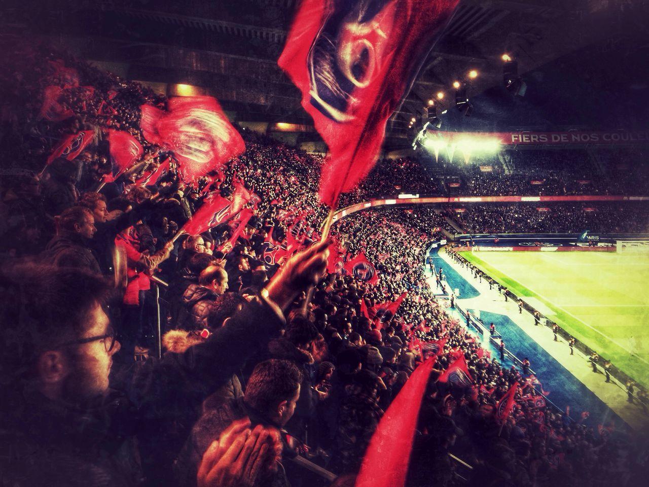 Paris goes crazy Paris Saint Germain Paris Ligue1 Angers Football Crowd Goal Fans Supporters Celebration Stadium Parc Des Princes