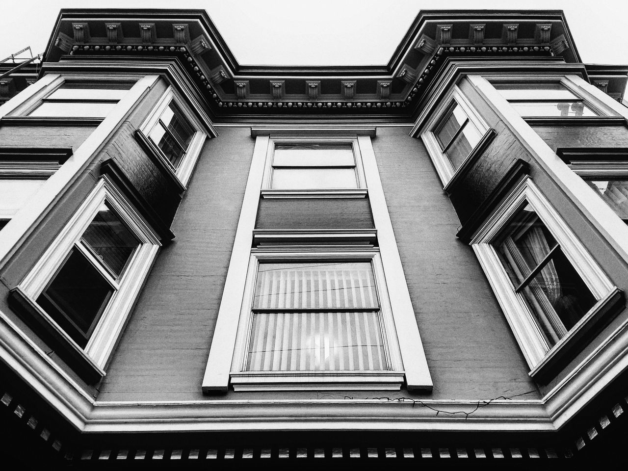 architecture, built structure, low angle view, building exterior, window, day, no people, outdoors