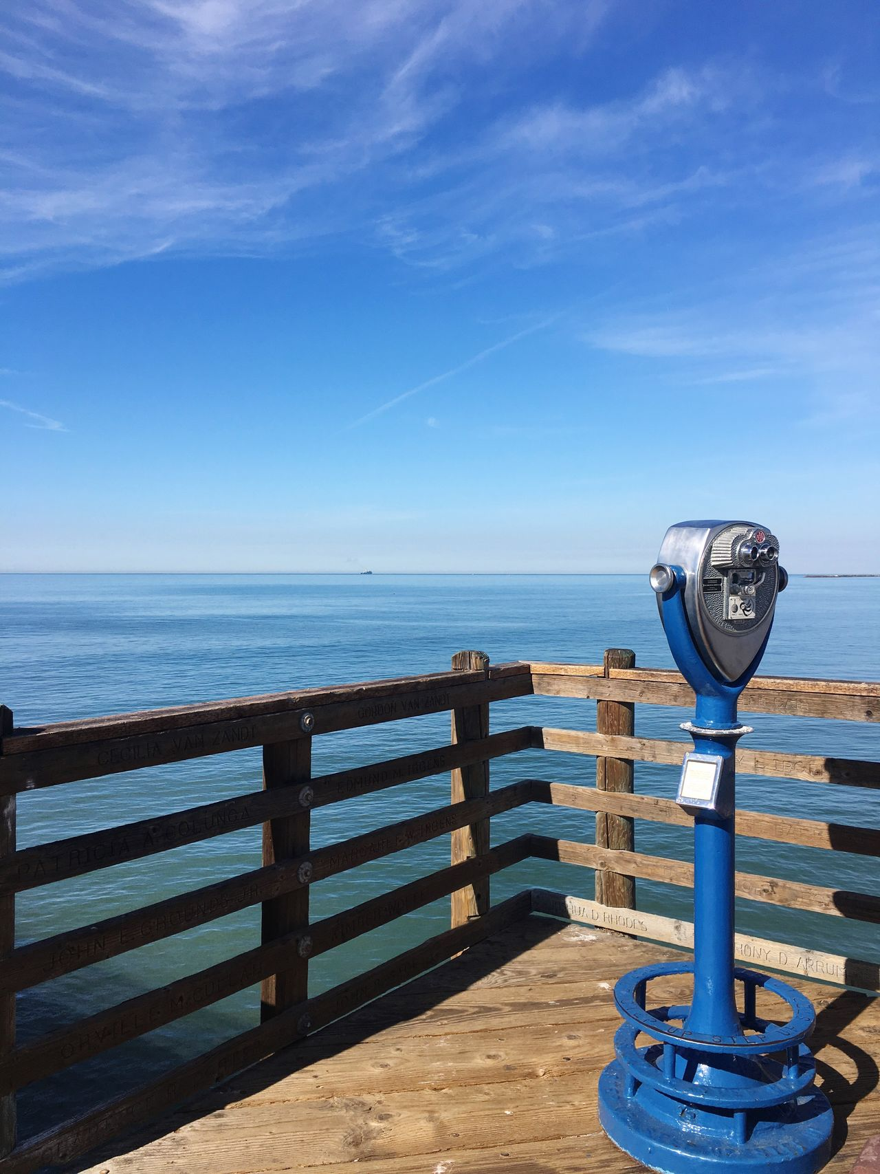 Southern California Beauty In Nature Coin-operated Binoculars Scenics Oceanside Pier Beach
