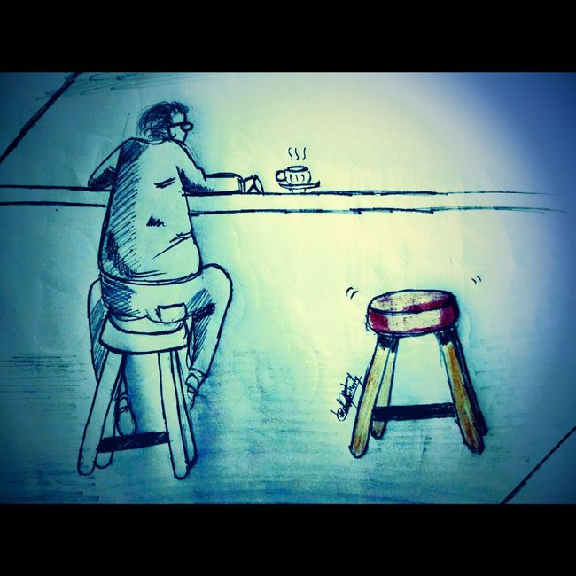 Scribble Pencil Sketch  WhenBoredomStrikes Lonely Coffee Bored At Home Eyeem Market