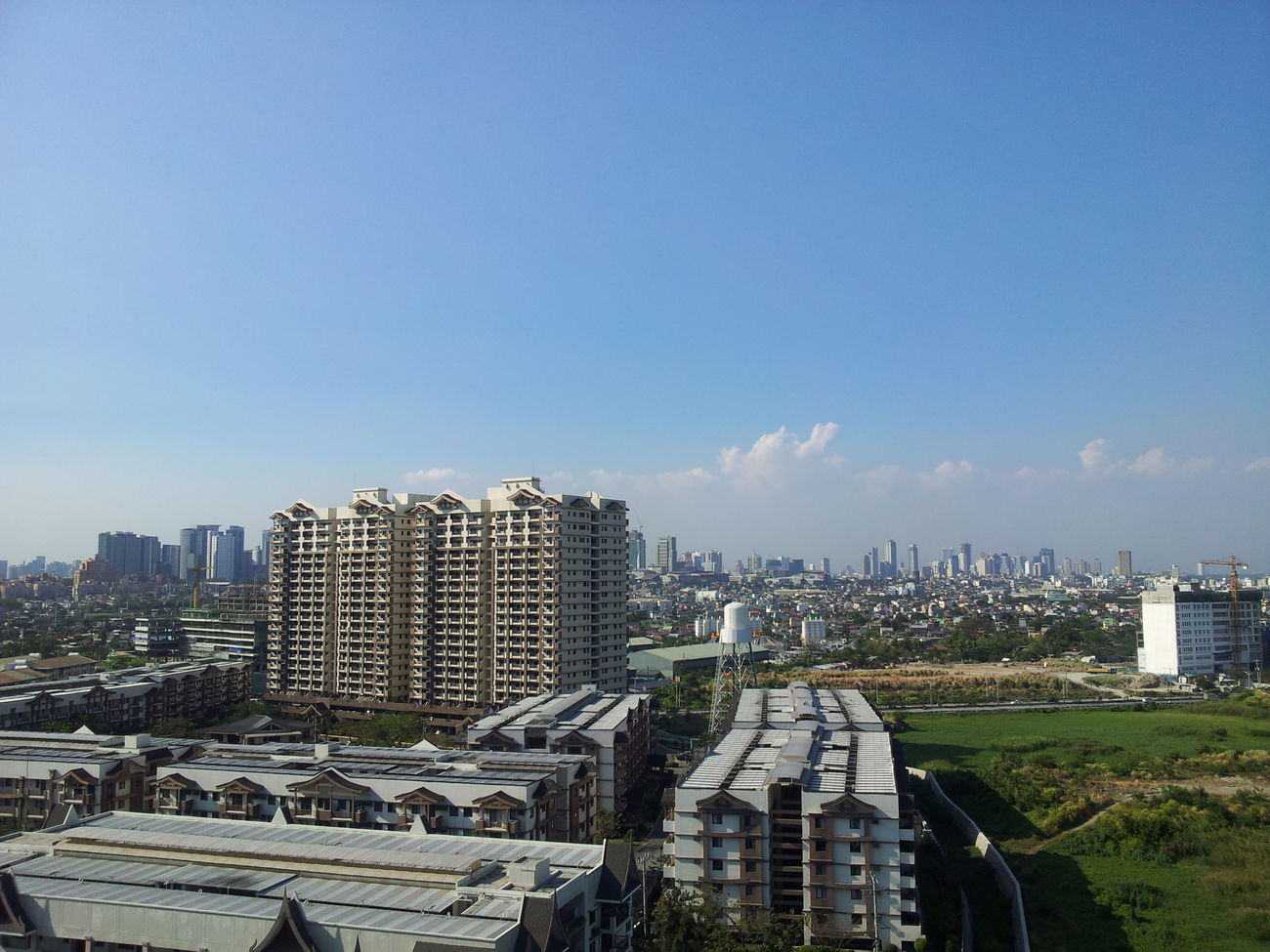 View from a top of the 15th floor in DMCI Taguig