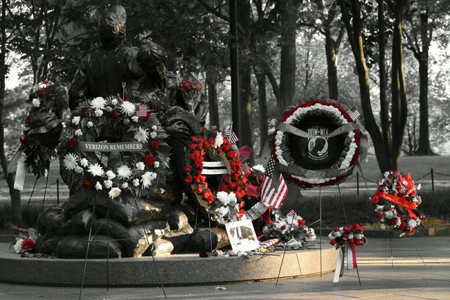 Vietnammemorial Women Sacrifice Neverforgotten Memorialday Blackandwhite Photography Duty Honor Sacrifice