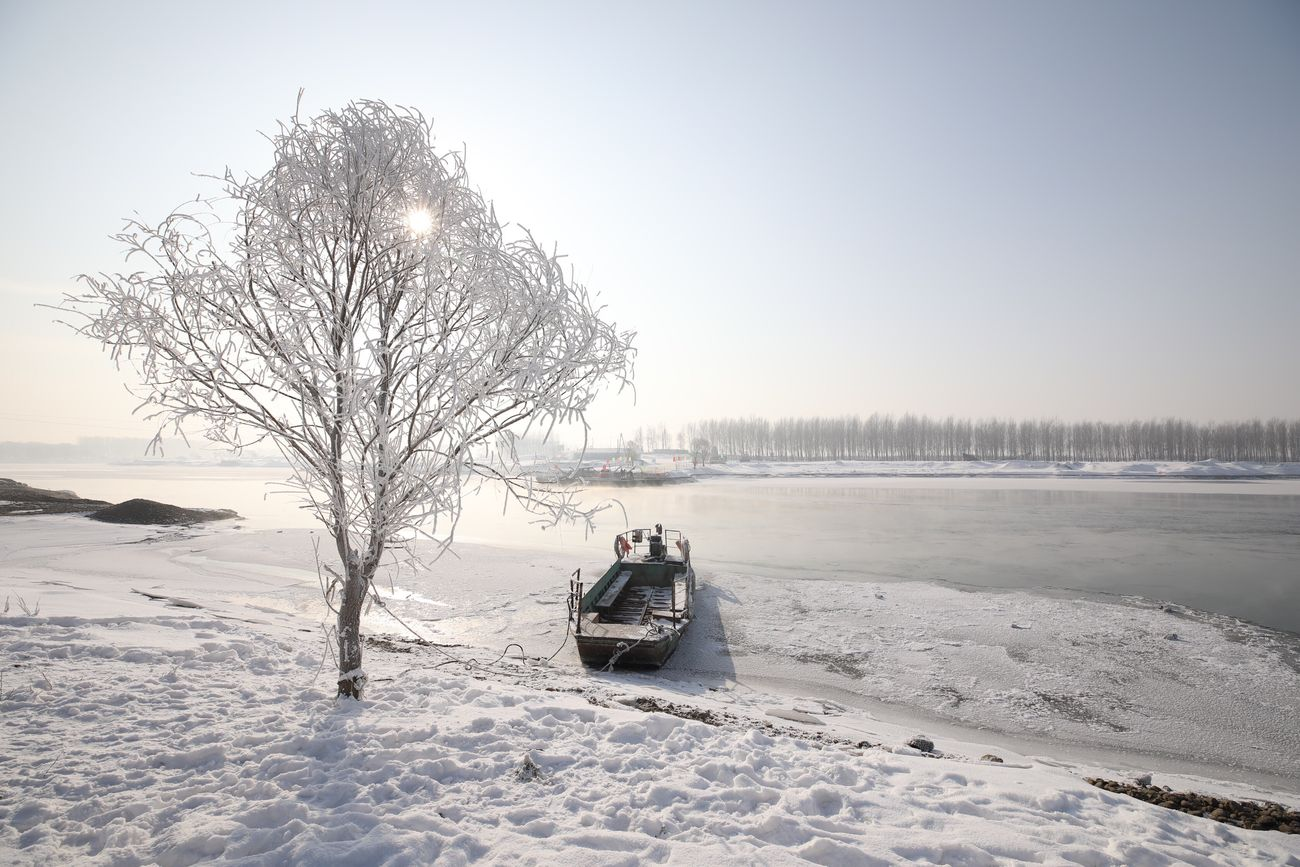 Outdoors Winter Cold Temperature Snow Clear Sky Tree Beauty In Nature Boat Bare Tree Landscape Scenics Day Sky