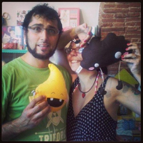Io e @viewtifulmax in compagnia della pipì e della pupù Latanadelbianconiglio Plush Cute Funny me