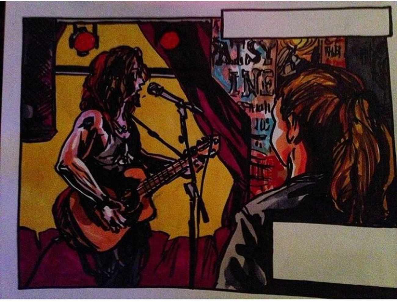 Comic Drawing Jane Doe Restaurant Live Music östersund Me Musician Jens